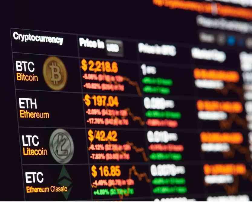 Cours des cryptomonnaies