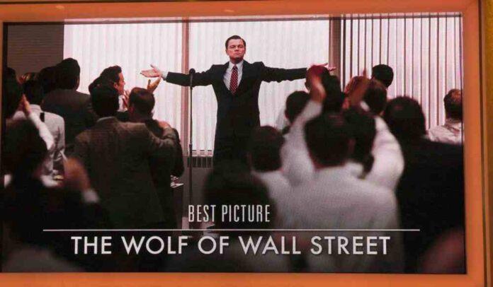 Leonardo DiCaprio dans le rôle du trader choc dans le film de Scorsese Le Loup de Wall Street